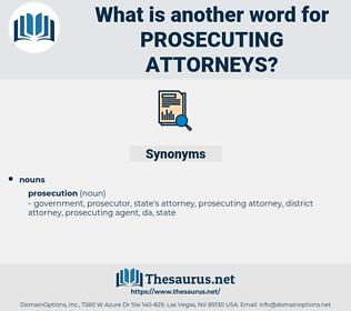 prosecuting attorneys, synonym prosecuting attorneys, another word for prosecuting attorneys, words like prosecuting attorneys, thesaurus prosecuting attorneys