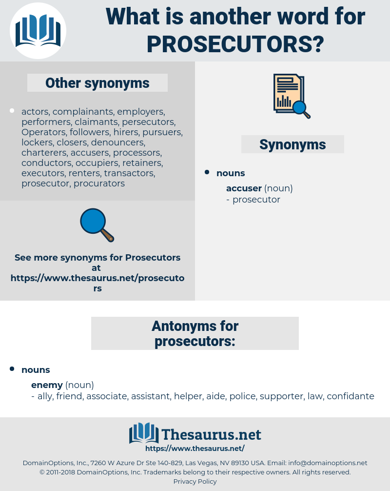 prosecutors, synonym prosecutors, another word for prosecutors, words like prosecutors, thesaurus prosecutors