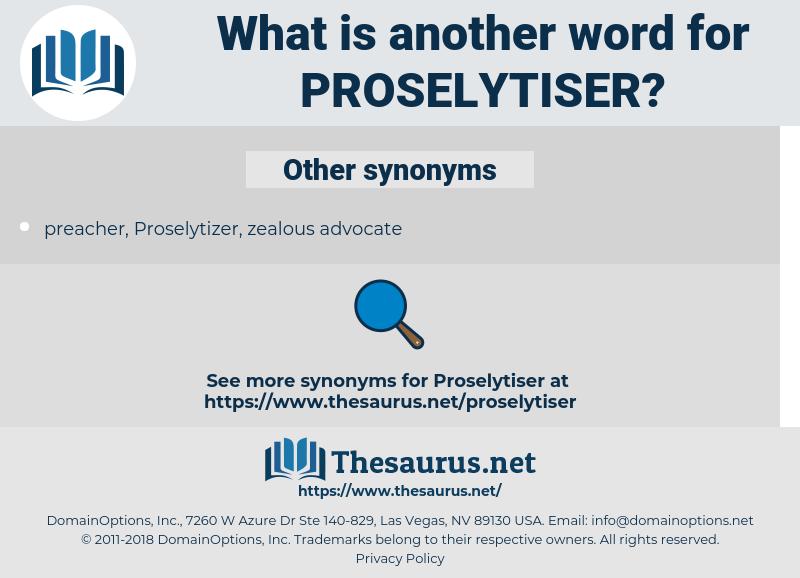 proselytiser, synonym proselytiser, another word for proselytiser, words like proselytiser, thesaurus proselytiser