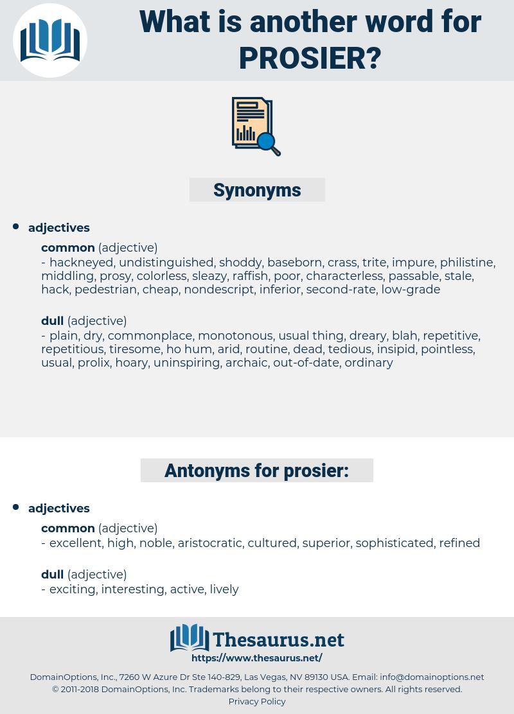 prosier, synonym prosier, another word for prosier, words like prosier, thesaurus prosier