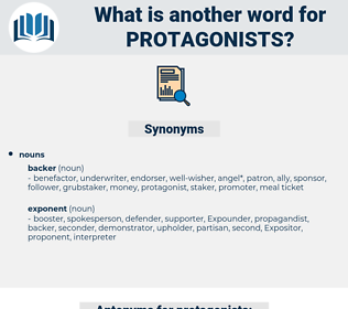 protagonists, synonym protagonists, another word for protagonists, words like protagonists, thesaurus protagonists
