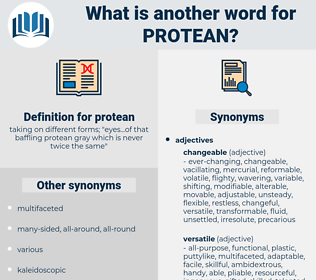 protean, synonym protean, another word for protean, words like protean, thesaurus protean