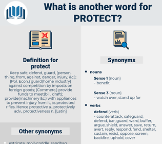 protect, synonym protect, another word for protect, words like protect, thesaurus protect