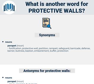 protective walls, synonym protective walls, another word for protective walls, words like protective walls, thesaurus protective walls
