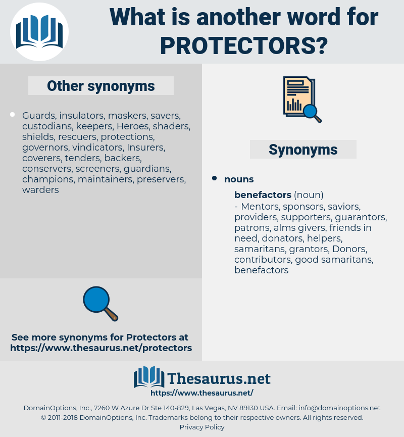 protectors, synonym protectors, another word for protectors, words like protectors, thesaurus protectors
