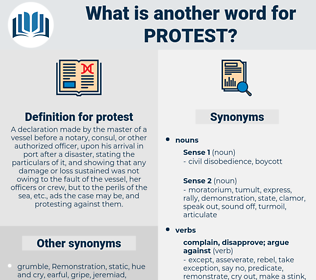 protest, synonym protest, another word for protest, words like protest, thesaurus protest