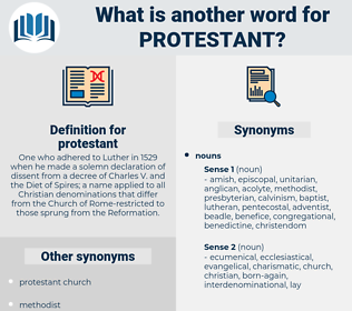 protestant, synonym protestant, another word for protestant, words like protestant, thesaurus protestant