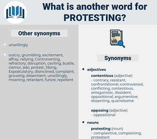 protesting, synonym protesting, another word for protesting, words like protesting, thesaurus protesting