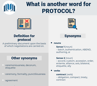 protocol, synonym protocol, another word for protocol, words like protocol, thesaurus protocol