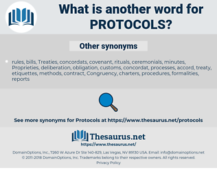 protocols, synonym protocols, another word for protocols, words like protocols, thesaurus protocols
