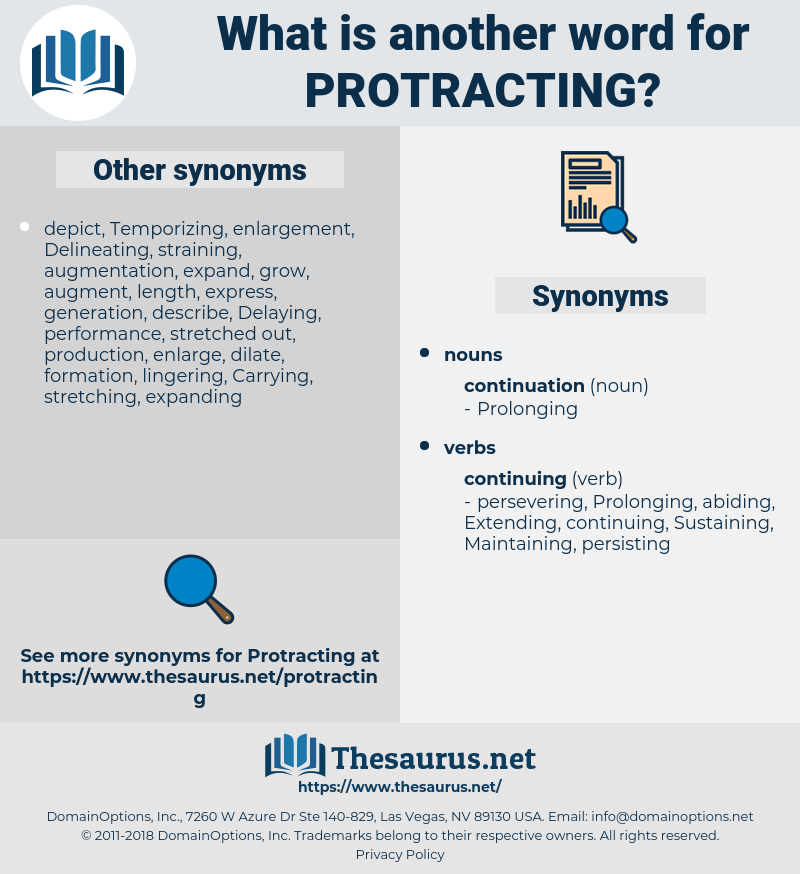 Protracting, synonym Protracting, another word for Protracting, words like Protracting, thesaurus Protracting