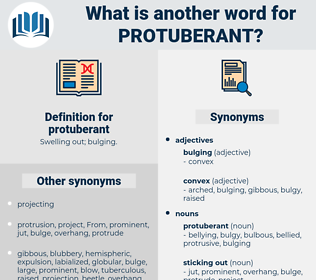protuberant, synonym protuberant, another word for protuberant, words like protuberant, thesaurus protuberant