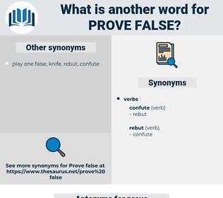 prove false, synonym prove false, another word for prove false, words like prove false, thesaurus prove false