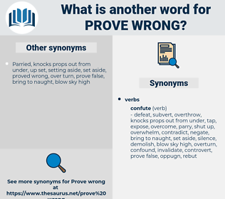 prove wrong, synonym prove wrong, another word for prove wrong, words like prove wrong, thesaurus prove wrong