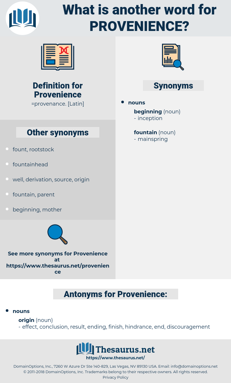 Provenience, synonym Provenience, another word for Provenience, words like Provenience, thesaurus Provenience