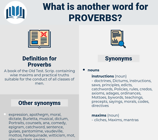 Proverbs, synonym Proverbs, another word for Proverbs, words like Proverbs, thesaurus Proverbs