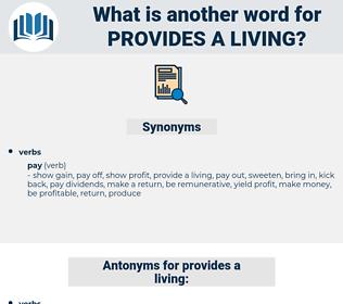 provides a living, synonym provides a living, another word for provides a living, words like provides a living, thesaurus provides a living