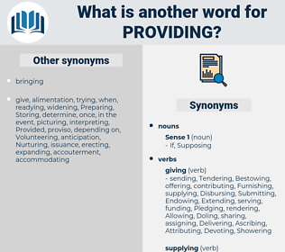 Providing, synonym Providing, another word for Providing, words like Providing, thesaurus Providing