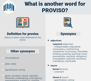 proviso, synonym proviso, another word for proviso, words like proviso, thesaurus proviso