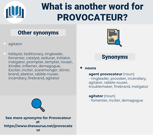 provocateur, synonym provocateur, another word for provocateur, words like provocateur, thesaurus provocateur