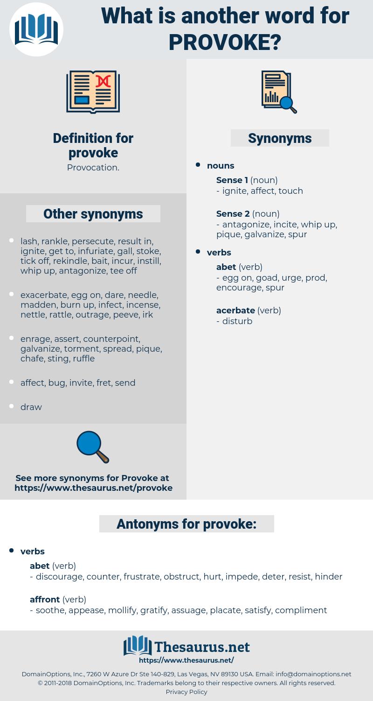 provoke, synonym provoke, another word for provoke, words like provoke, thesaurus provoke