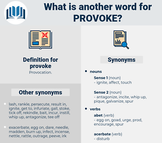 provoke, synonym provoke, another word for provoke, words like provoke, thesaurus provoke