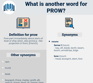 prow, synonym prow, another word for prow, words like prow, thesaurus prow