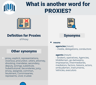 Proxies, synonym Proxies, another word for Proxies, words like Proxies, thesaurus Proxies
