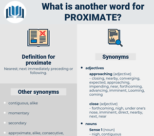 proximate, synonym proximate, another word for proximate, words like proximate, thesaurus proximate