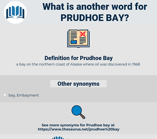 Prudhoe Bay, synonym Prudhoe Bay, another word for Prudhoe Bay, words like Prudhoe Bay, thesaurus Prudhoe Bay