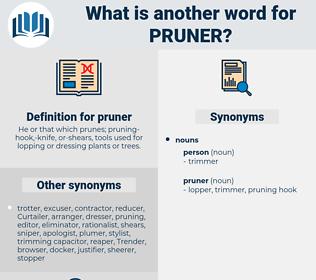 pruner, synonym pruner, another word for pruner, words like pruner, thesaurus pruner