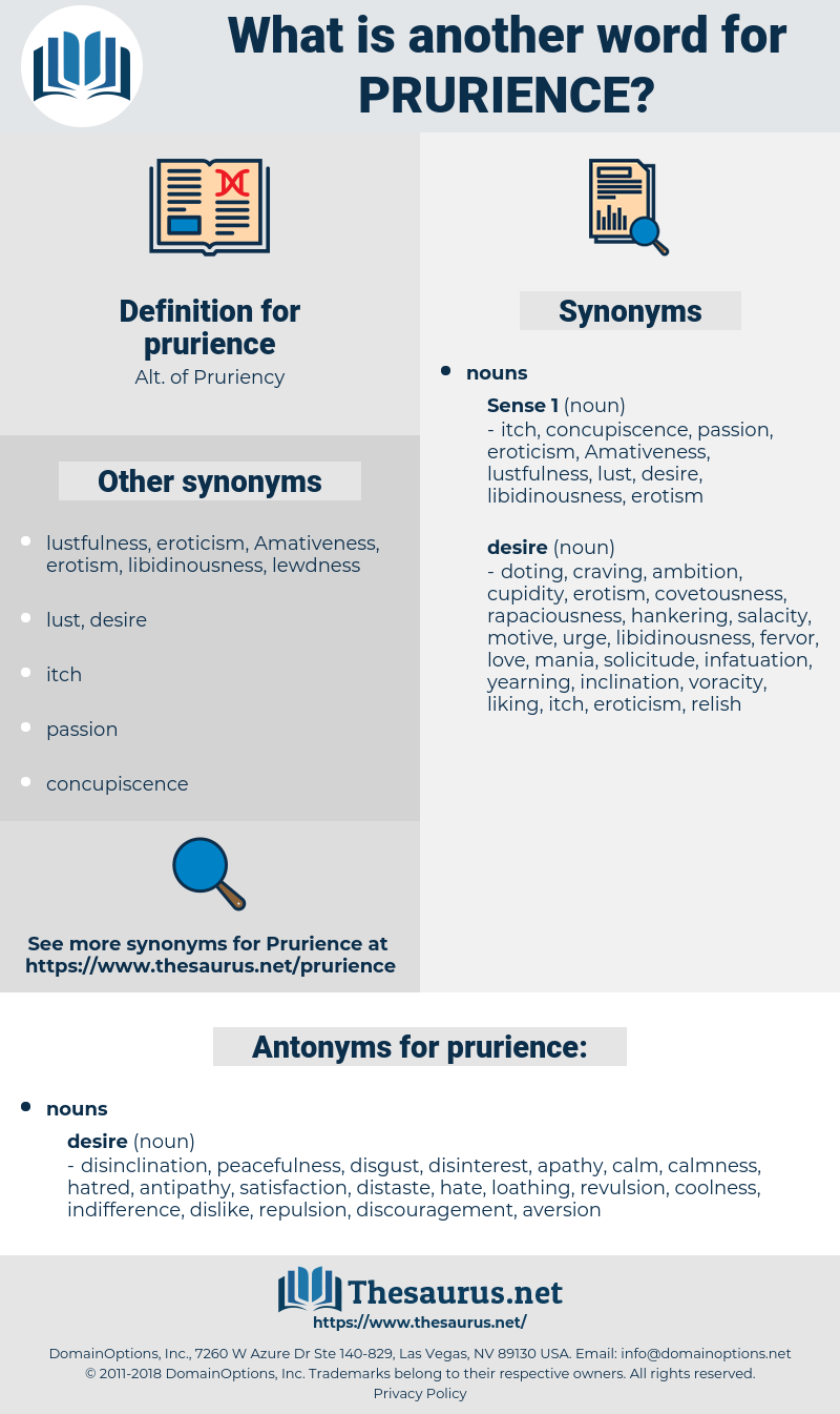 prurience, synonym prurience, another word for prurience, words like prurience, thesaurus prurience