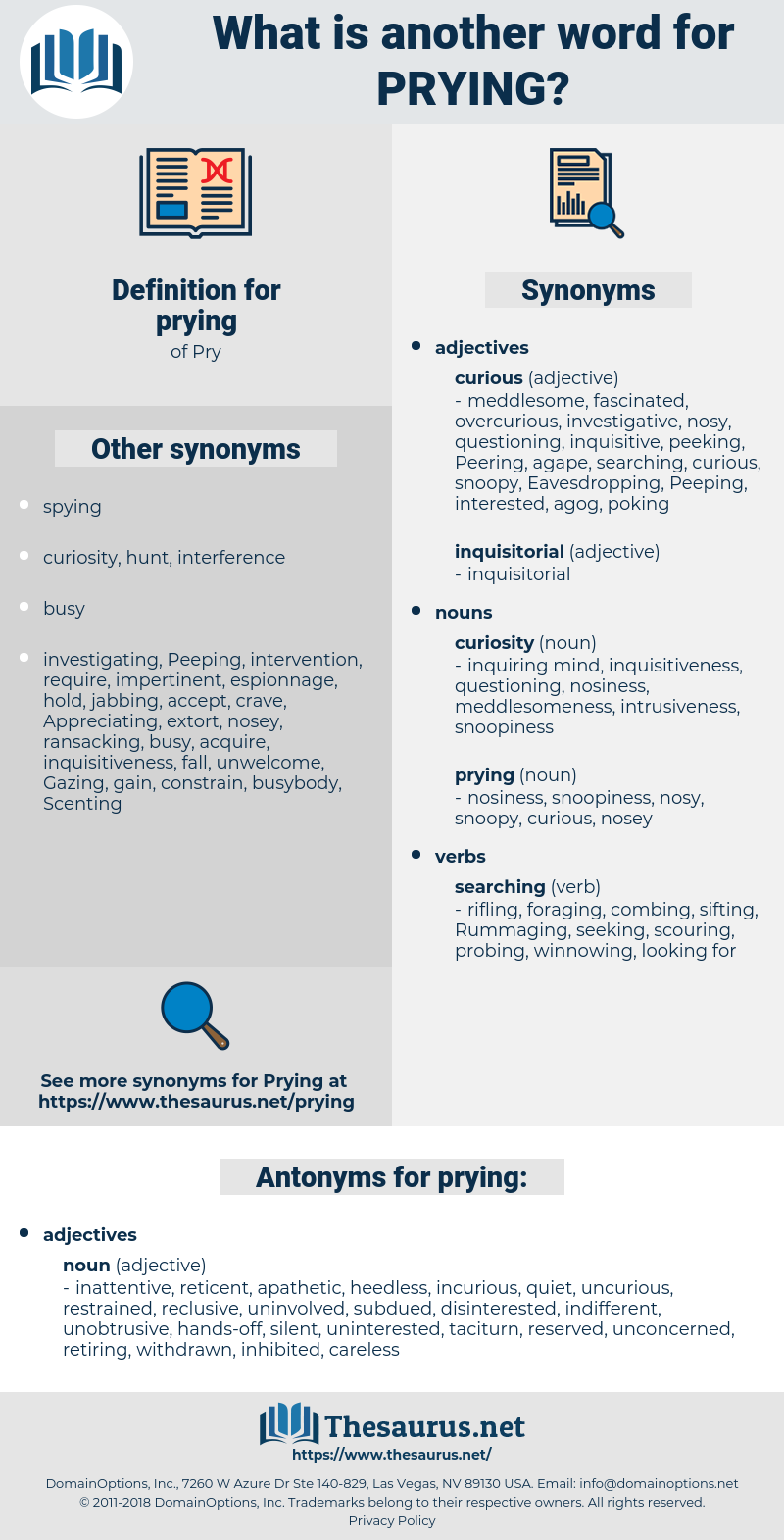 prying, synonym prying, another word for prying, words like prying, thesaurus prying