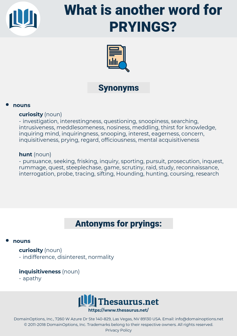 pryings, synonym pryings, another word for pryings, words like pryings, thesaurus pryings