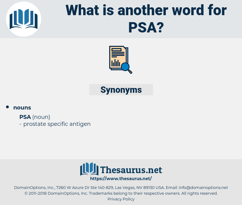 psa, synonym psa, another word for psa, words like psa, thesaurus psa