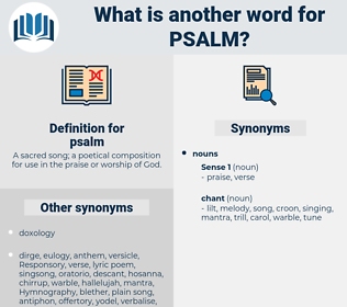 psalm, synonym psalm, another word for psalm, words like psalm, thesaurus psalm