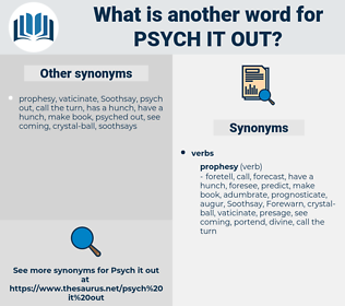 psych it out, synonym psych it out, another word for psych it out, words like psych it out, thesaurus psych it out