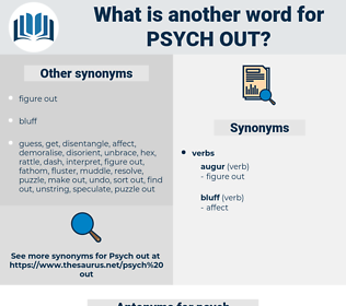 psych out, synonym psych out, another word for psych out, words like psych out, thesaurus psych out