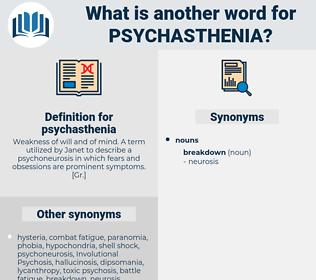 psychasthenia, synonym psychasthenia, another word for psychasthenia, words like psychasthenia, thesaurus psychasthenia