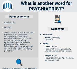 psychiatrist, synonym psychiatrist, another word for psychiatrist, words like psychiatrist, thesaurus psychiatrist
