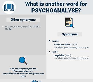 psychoanalyse, synonym psychoanalyse, another word for psychoanalyse, words like psychoanalyse, thesaurus psychoanalyse