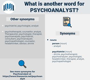 psychoanalyst, synonym psychoanalyst, another word for psychoanalyst, words like psychoanalyst, thesaurus psychoanalyst