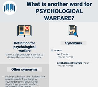 psychological warfare, synonym psychological warfare, another word for psychological warfare, words like psychological warfare, thesaurus psychological warfare