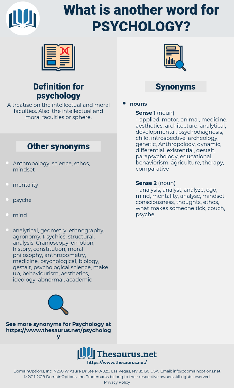 psychology, synonym psychology, another word for psychology, words like psychology, thesaurus psychology