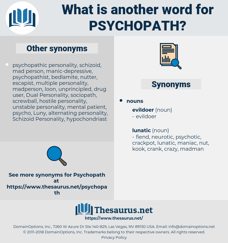 psychopath, synonym psychopath, another word for psychopath, words like psychopath, thesaurus psychopath