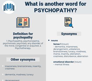 psychopathy, synonym psychopathy, another word for psychopathy, words like psychopathy, thesaurus psychopathy