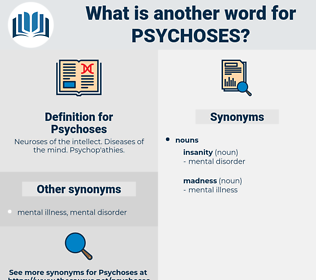 Psychoses, synonym Psychoses, another word for Psychoses, words like Psychoses, thesaurus Psychoses