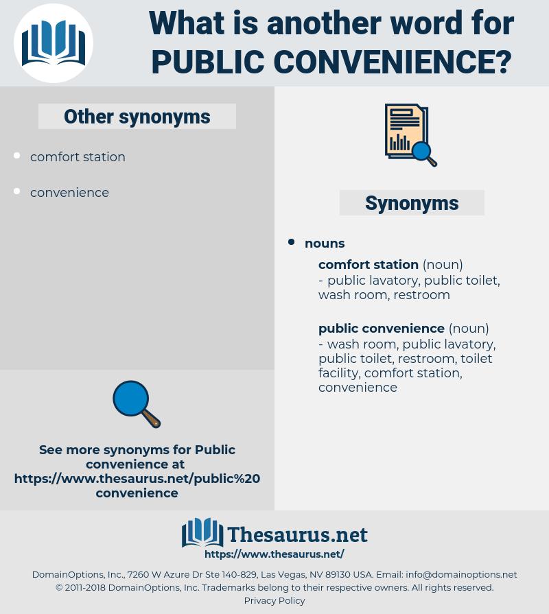public convenience, synonym public convenience, another word for public convenience, words like public convenience, thesaurus public convenience