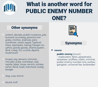 public enemy number one, synonym public enemy number one, another word for public enemy number one, words like public enemy number one, thesaurus public enemy number one