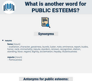 public esteems, synonym public esteems, another word for public esteems, words like public esteems, thesaurus public esteems